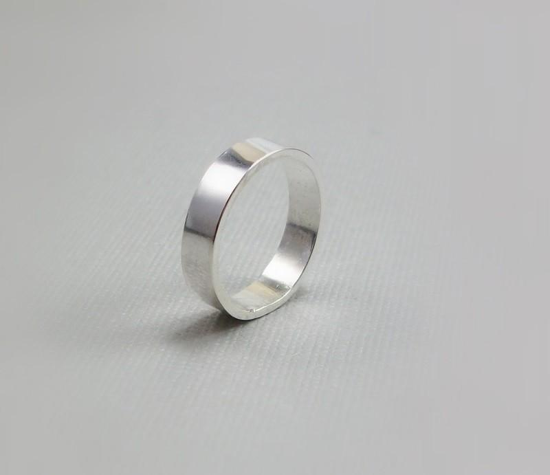 Silver Wedding Band - Sterling Jewelry - Simple Ring Band #2417058 ...