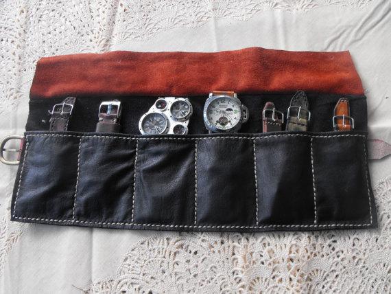 Mariage - Watch Roll, Storage watch pouch, watch strap holder, travel watch pouch, organizer watch case, leather watch roll, pouch bag for watch