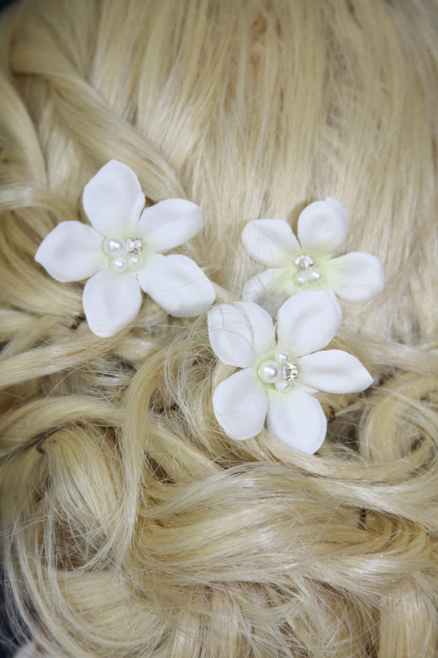 Bridal Hair Pins White Stephanotis Hair Pins Bridal Hairpins Hair