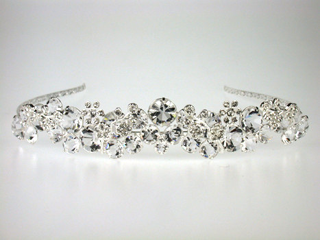 Hochzeit - Wedding Tiara - Rhinestone Tiara - Elisabeth Bridal Tiara with Rhinestones-Bridal Tiara - Bridal Accessories- Bridal Hair - Wedding Jewelry