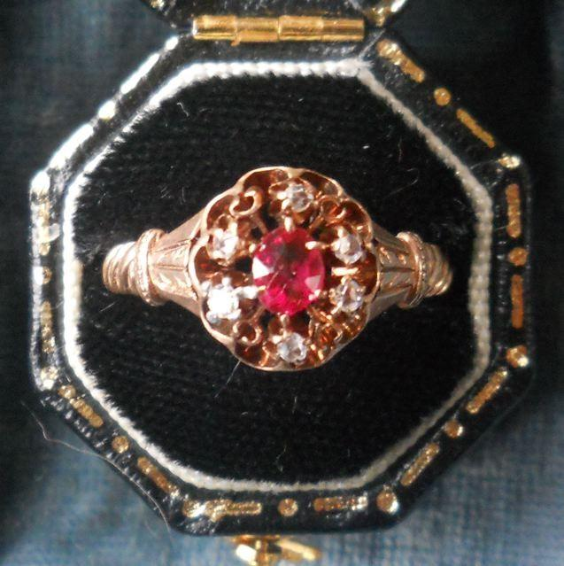 inspired marquise ring vintage diamond red antique ruby in nl rg rings nature engagement jewelry gold rose petal with