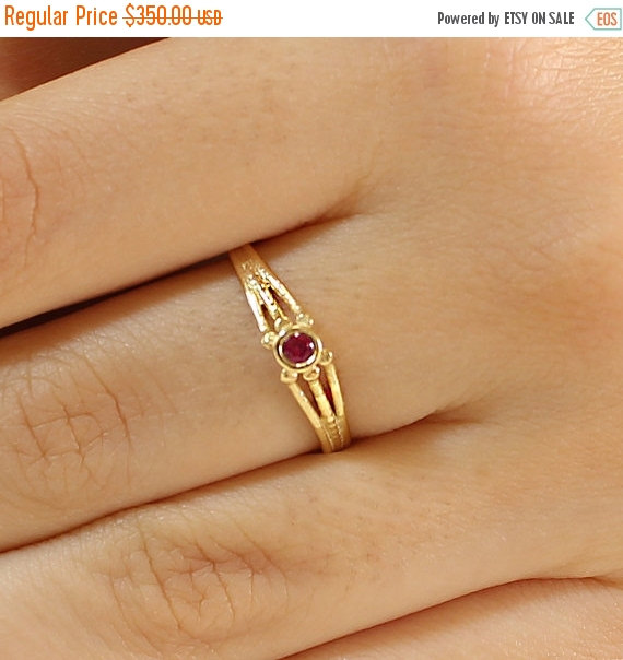 Black Friday SALE Ruby Engagement Ring Ruby Ring Solitaire