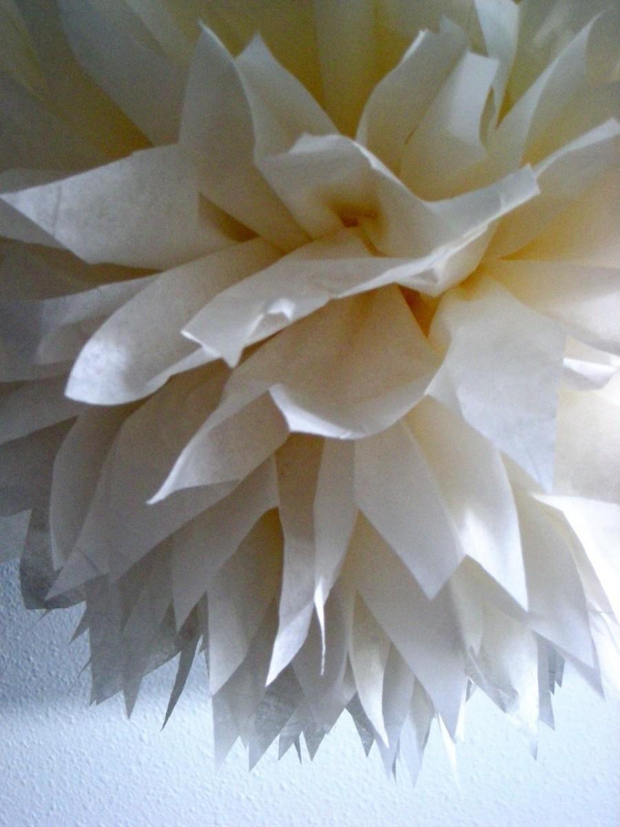 Wedding ideas pompom weddbook cream 1 tissue paper pom pom wedding decorations diy pompoms christening decorations nursery poms cream decorations pompom solutioingenieria Image collections