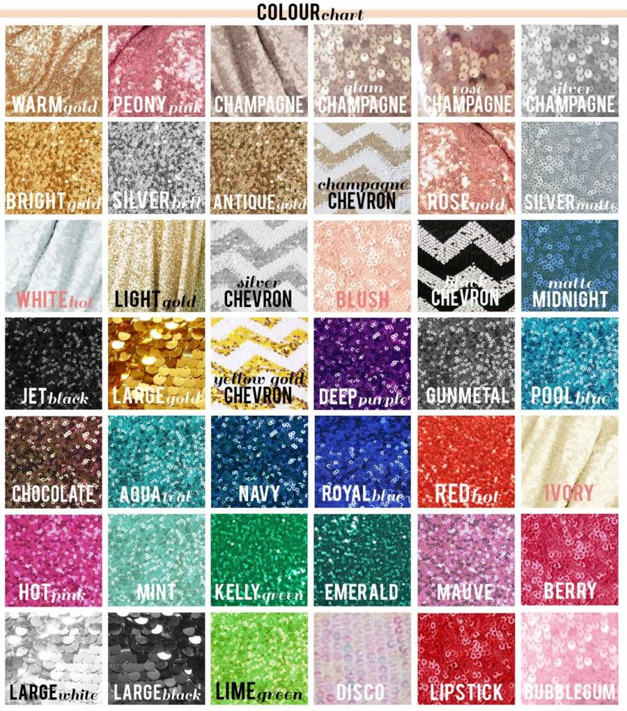 Wedding - Sequin fabric swatch sample! Choose your color! Free ship! For your sequin tablecloth, table cloth, table runners, photo booths, weddings