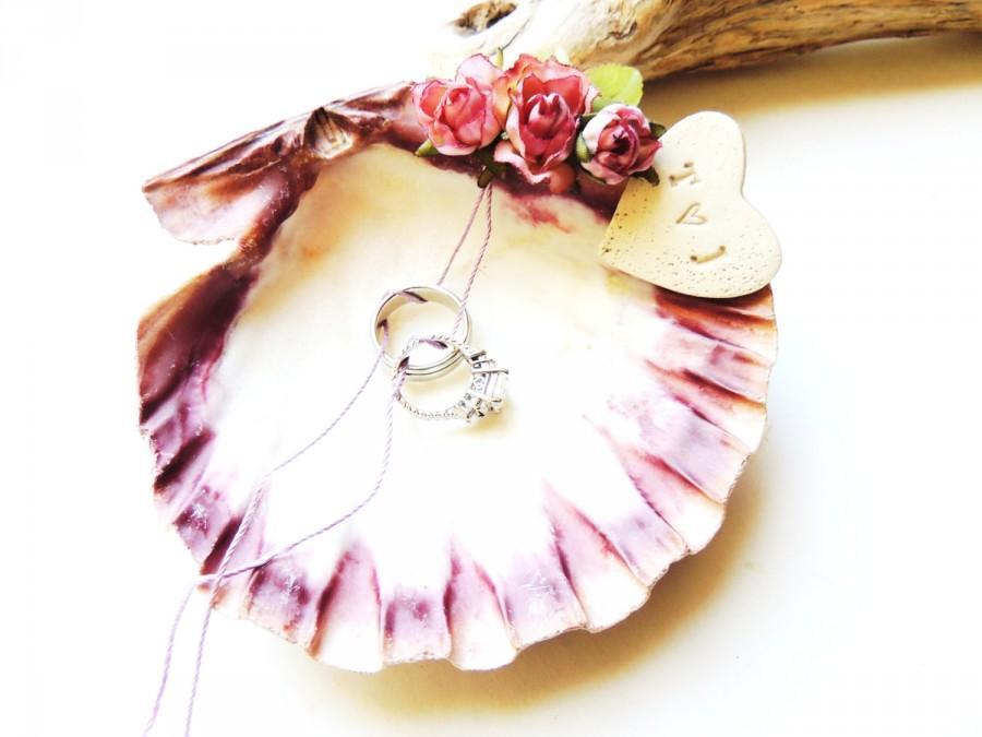 seashell shell ring bearer holder bowl dish wedding ring