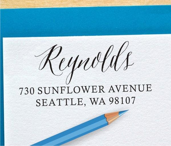 Modern Calligraphy Address Stamp Pre Inked Address Stamp
