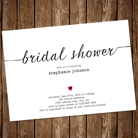 Invitation simple bridal shower invitation 2417404 weddbook simple bridal shower invitation filmwisefo