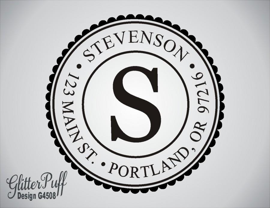 return address stamp round address stamp self inking address
