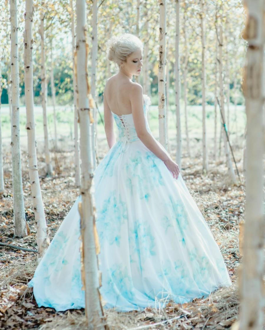 ada50784770 Floral Wedding Dress Watercolor Romantic