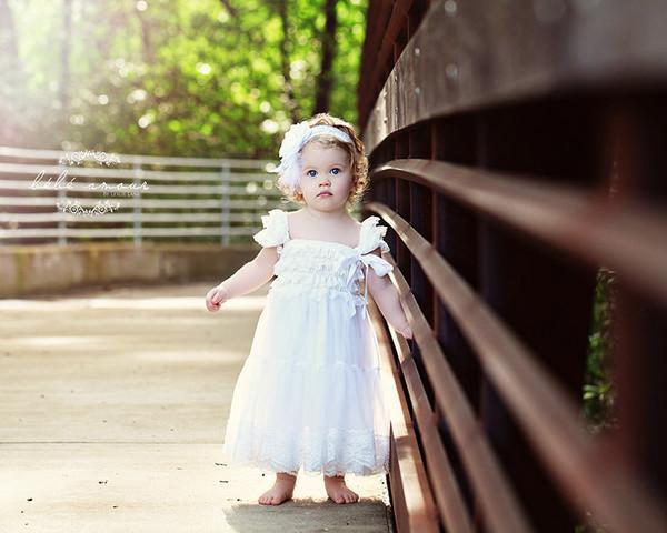 e26972611985 Rustic Flower Girl..Barn Weddings..Cowboy Flower Girl Dress..White Flower  Girl Dress. .Burlap Weddings - Suri Pie Creations