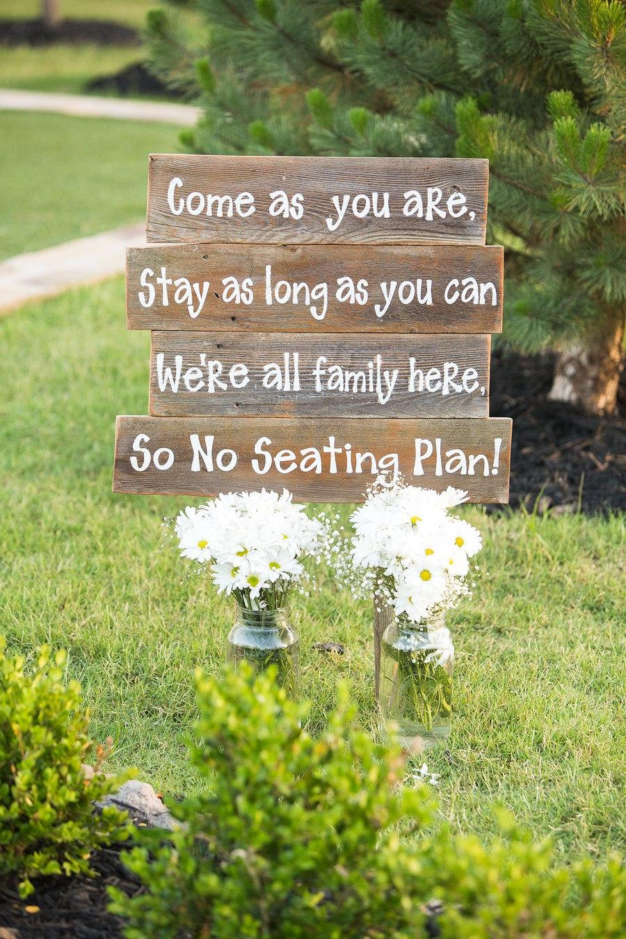 Свадьба - FAMILY WEDDING sign Come as you are Stay as long as you can