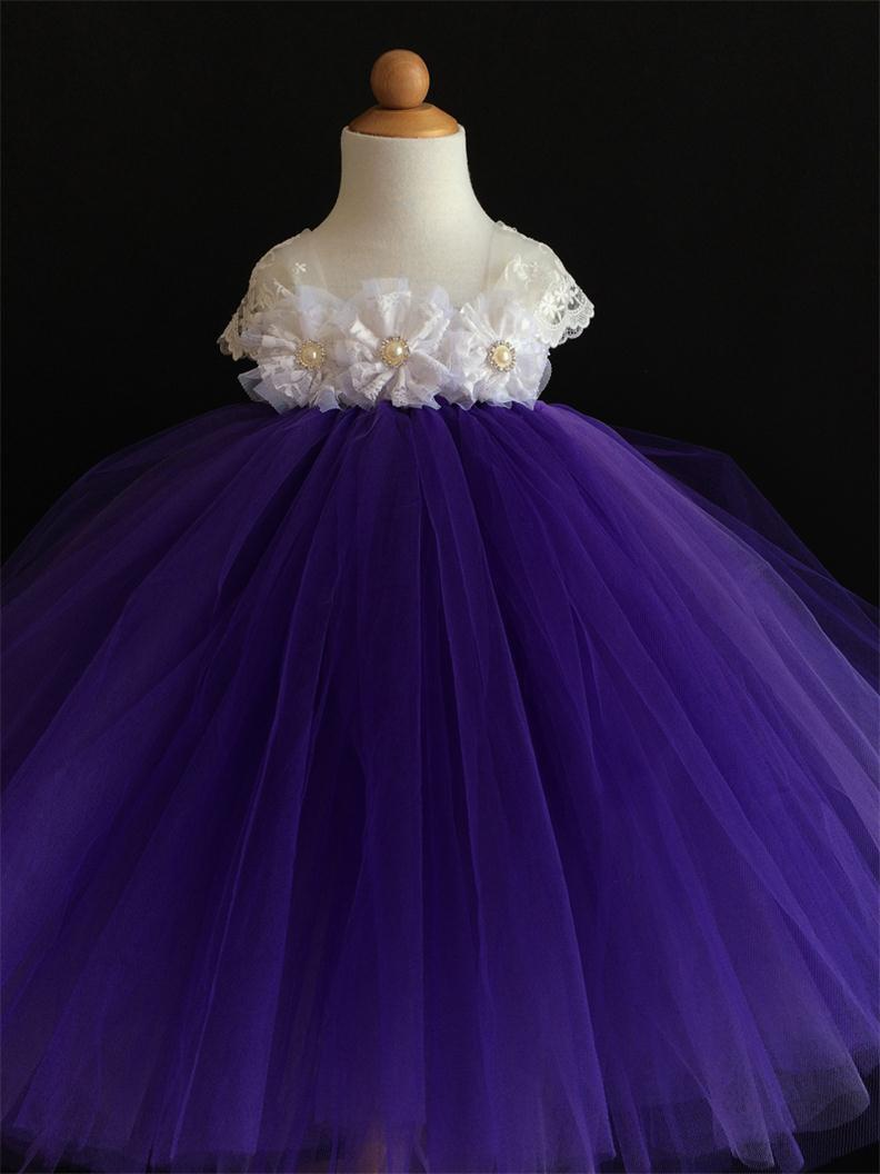 White flowers purple tulle dress flower girl dress flower girl tutu white flowers purple tulle dress flower girl dress flower girl tutu dress girl dress 2t3t4t5t6t birthday party dress puffy dress mightylinksfo