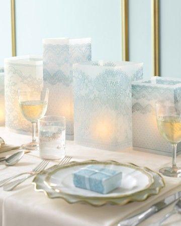 Wedding - Lace Vellum Luminarias Clip Art
