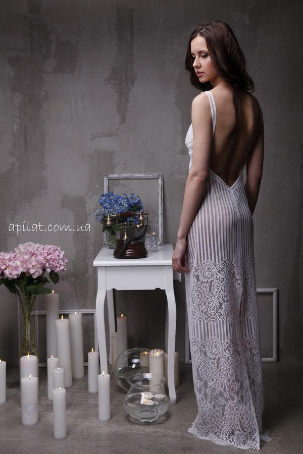 Свадьба - Long Lace Bridal Nightgown With Open Back F4(Lingerie, Nightdress), Bridal Lingerie, Wedding Lingerie, Honeymoon, Christmas Gifts, For Her