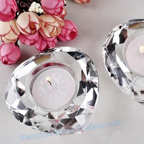 Свадьба - Crystal Heart Tea Light Candle Holder Home Decoration SJ002