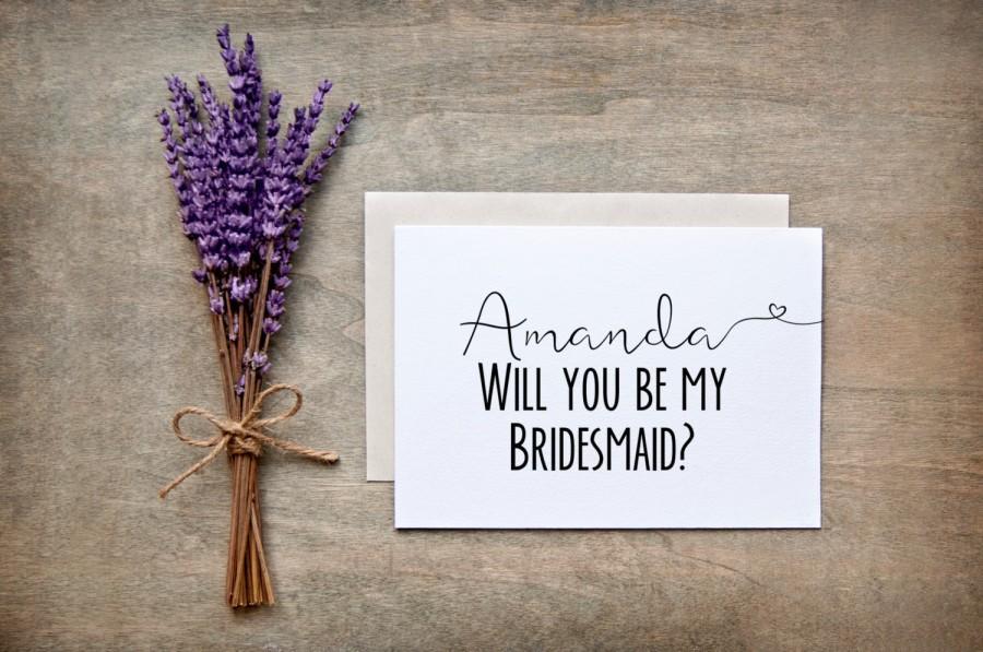 Mariage - Will you be my Bridesmaid Card - Bridesmaid Gift, Bridesmaid proposal card, nc2