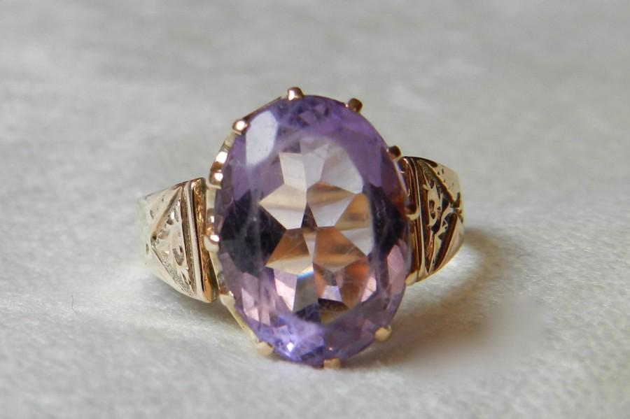 Amethyst Ring Victorian 45 Ct Amethyst Aesthetic Period Ring