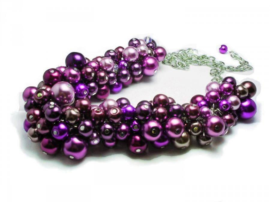 Mariage - PLUM PURPLE WEDDING Necklace