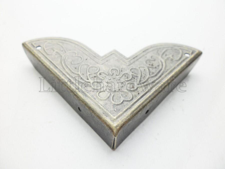 زفاف - 4PCS 50mmx50mmx9mm flower style Vintage iron Decorative Corner Bracket for Chest Case Box