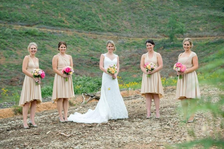 Wedding - Tailored InFiNiTy dress CUSTOM to your exact size & length  HUNDREDS of colors for your rustic chic wedding,   slate, blush, blue, rosewater
