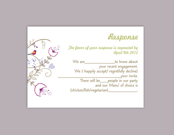 DIY Wedding RSVP Template Editable Text Word File Download Rsvp Template  Printable RSVP Cards Colorful Rsvp Card Template Elegant Rsvp Card  Party Rsvp Template