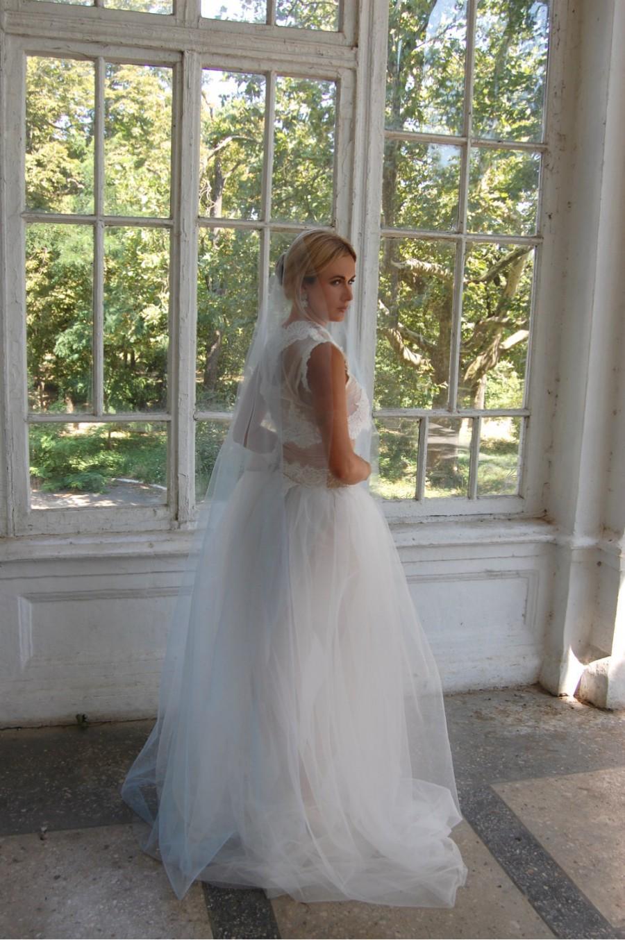 Mariage - Blue veil Cathedral veil long blue cathedral veil unique veil blue veil veils bridal veil wedding veil