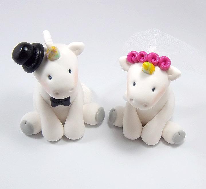 Свадьба - Unicorn Cake Topper, Wedding Cake Topper, Fantasy Cake Topper