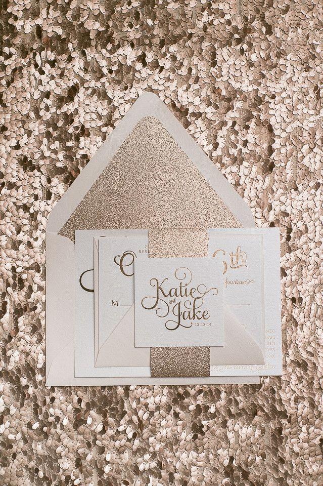 Mariage - ADELE *FOIL* Sample - Rose Gold Glitter