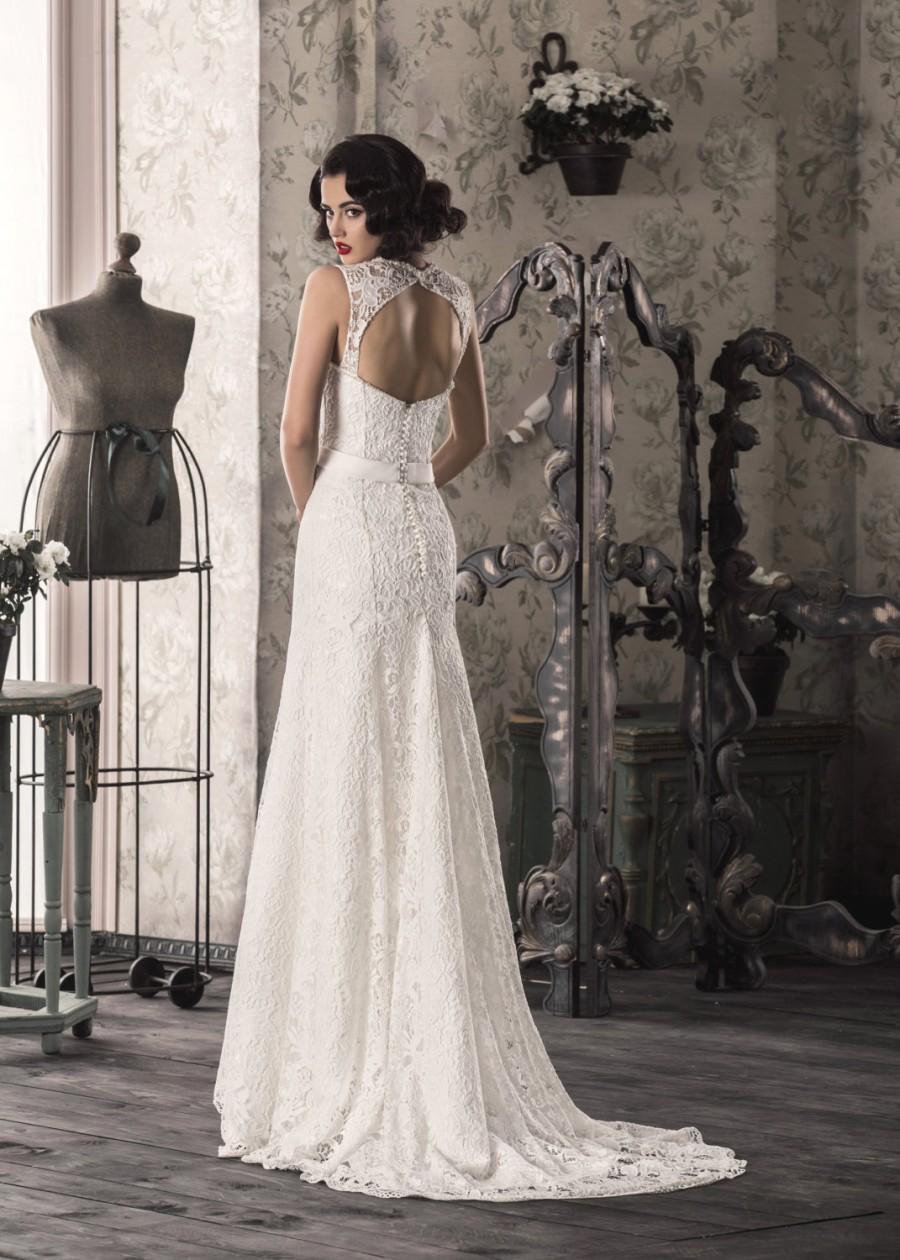 40 off elegant white ivory lace mermaid wedding dress for Wedding dresses off white lace
