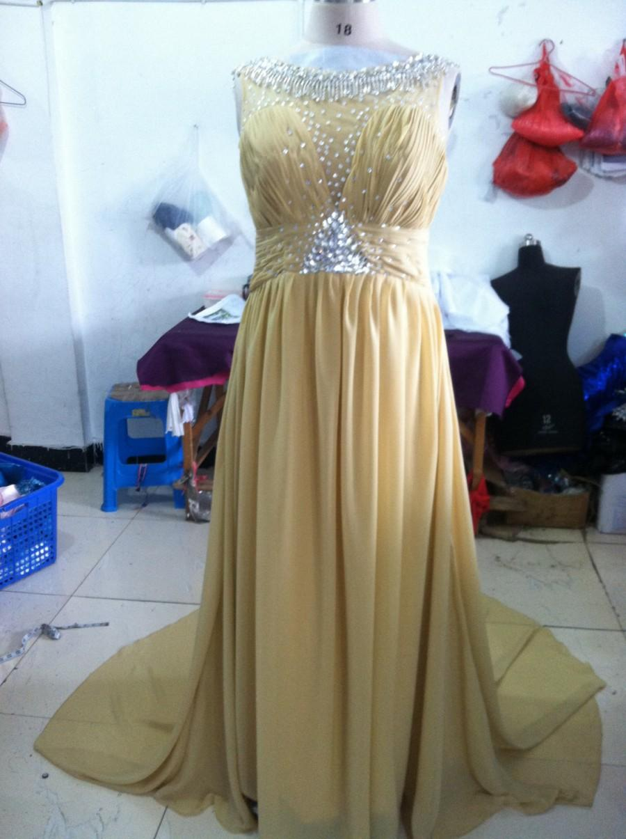 زفاف - handmade Chiffon Rhinestone Prom Dresses Evening Dresses Wedding dress