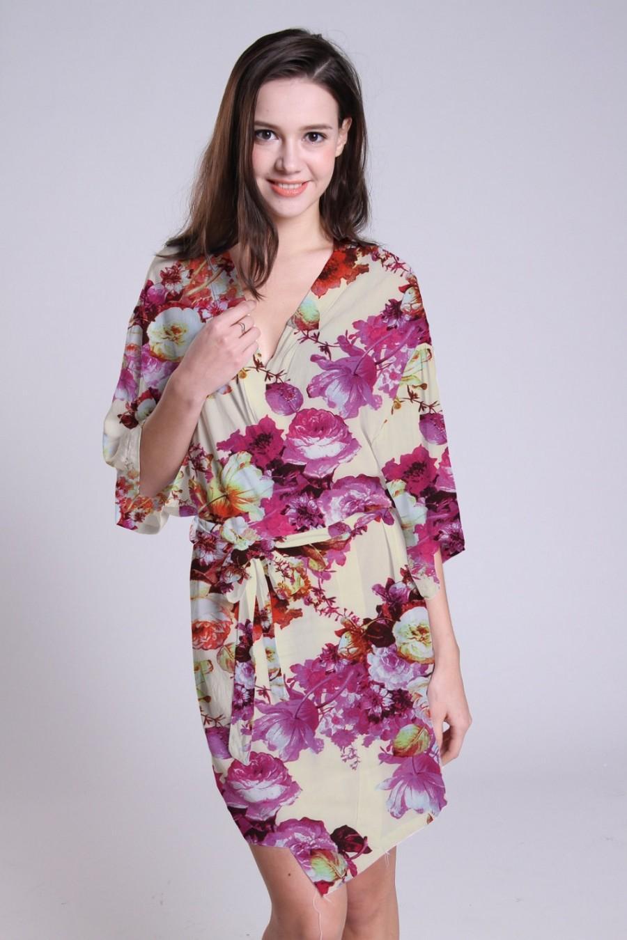wedding satin robes for bridal party bridesmaids kimono