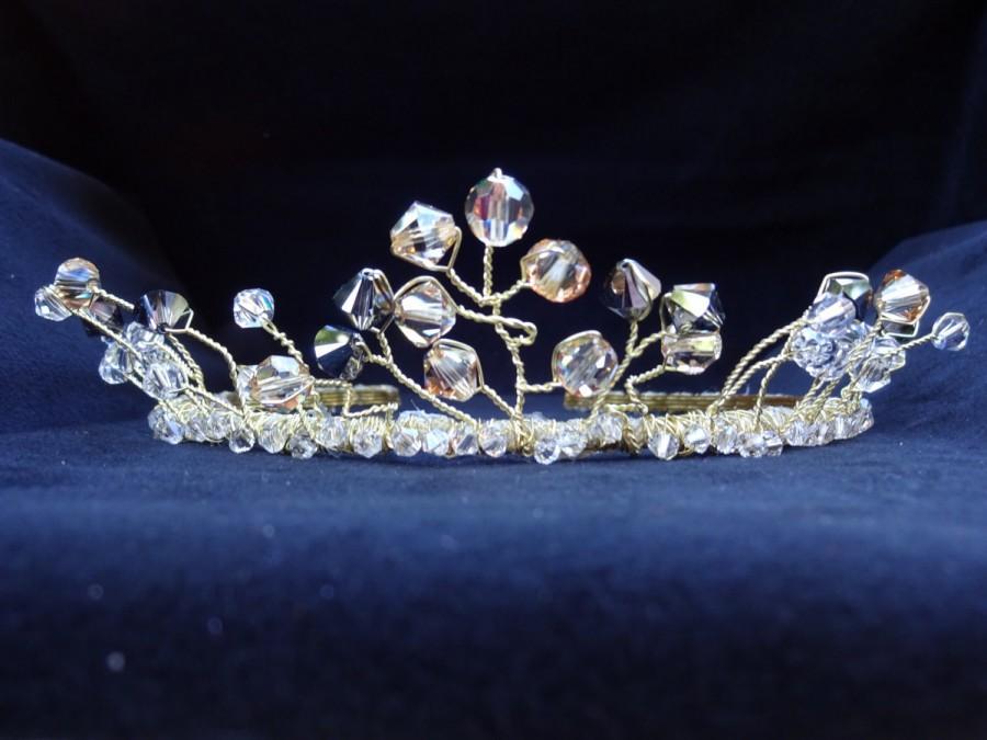 Mariage - Bridal Headpiece Bridal Tiara Engagement Tiara Wedding Tiara Wedding Crown Golden Tiara Jeweled Tiara Wedding headband READY TO SHIP