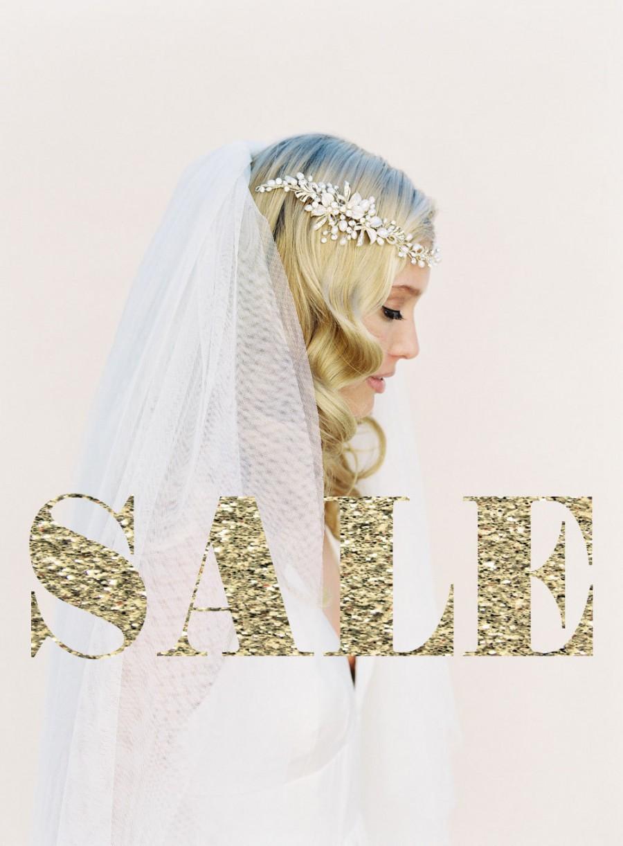 Bridal Hair Wreath, Crystal Hair Vine, Pearl Hair Garland, Bohemian ...
