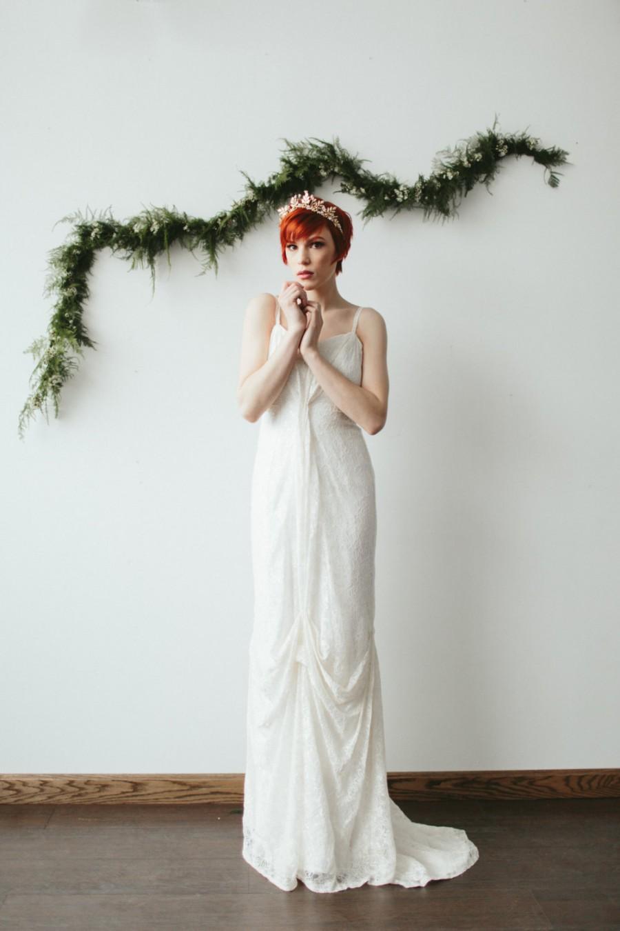Wedding Dress Thin Lace Straps : Christmas sale ends dec th boho wedding dress thin strap