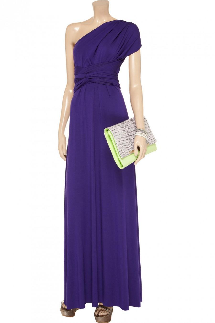 Purple Custom Handmade Infinit Dress.Wrapping Convertible ...