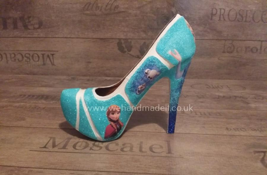 346f6c6cd616 Custom Made Frozen Decoupage glitter Womens Shoes. Any Style
