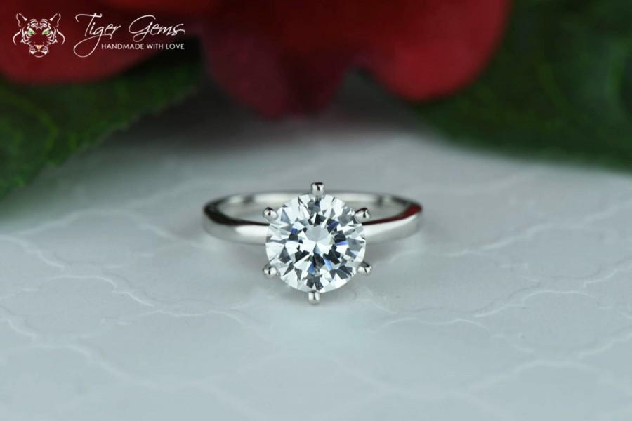 classic solitaire yscsmic elegant prong ring man engagement made rings simulant wedding diamond ct