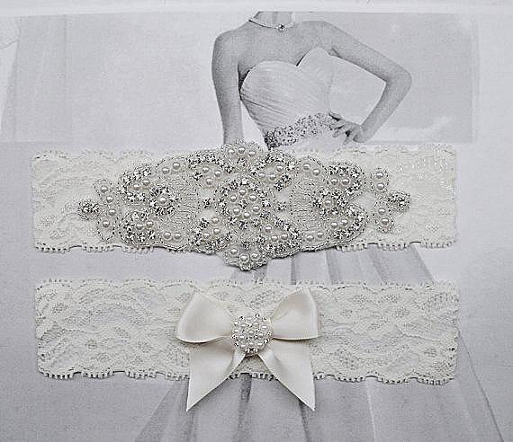 Свадьба - Bridal Garter Rhinestone Garter Crystal Bridal Garter Wedding Garter Crystal Rhinestone Garter Rhinestone Crystal Garter Set Crystal Garter