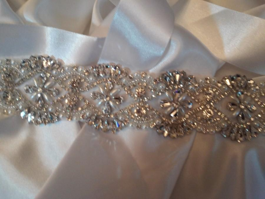 Mariage - Wedding Belts and Sashes, Crystal Wedding Belt, Beaded Wedding Belt, Rhinestone Wedding Belt,
