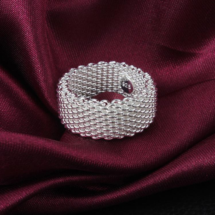 Hochzeit - Silver Wire Mesh Ring