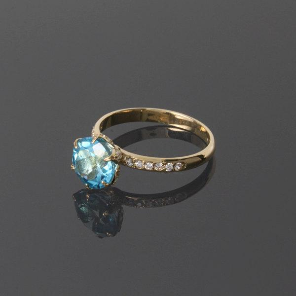 Hochzeit - Topaz ring - Topaz gold ring - Blue topaz ring - Gemstone ring - Blue gemstone ring - Promise ring for her - Solitaire gold ring
