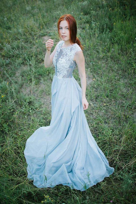 Свадьба - Grey Wedding Dress // Iris