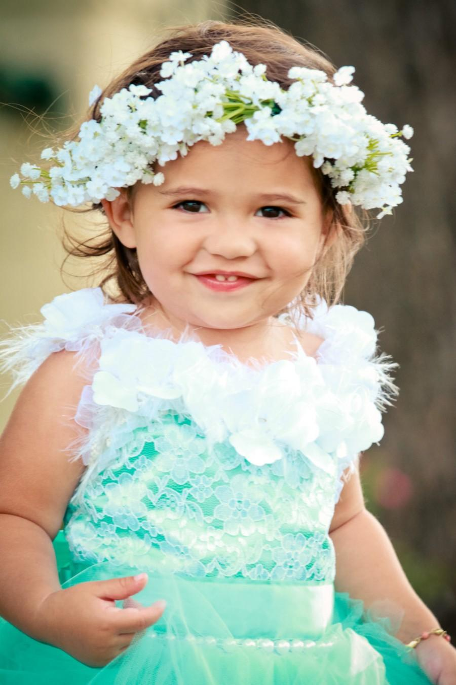 Babys breath crown flower girl hair crown woodland flower crown babys breath crown flower girl hair crown woodland flower crown flower girl halo wedding hair flower wedding season bridal hair izmirmasajfo