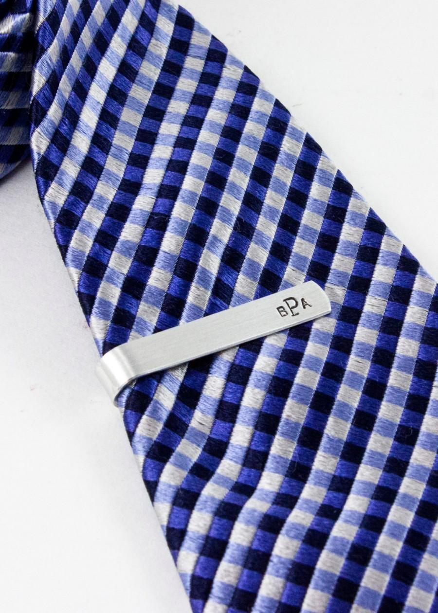 tie bar with monogram or initials personalized
