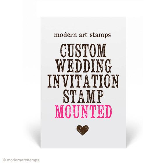 Decorative Wedding Invitation Badge 7: Wedding Invitation Stamp Wedding Stamp Custom Wedding