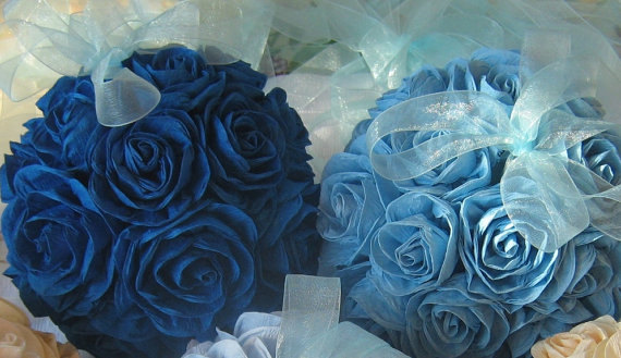 Kissing ball wedding royal navy blue hanging crepe paper flower kissing ball wedding royal navy blue hanging crepe paper flower balls wedding pomander kissing wedding decor flower girl baby shower decor mightylinksfo