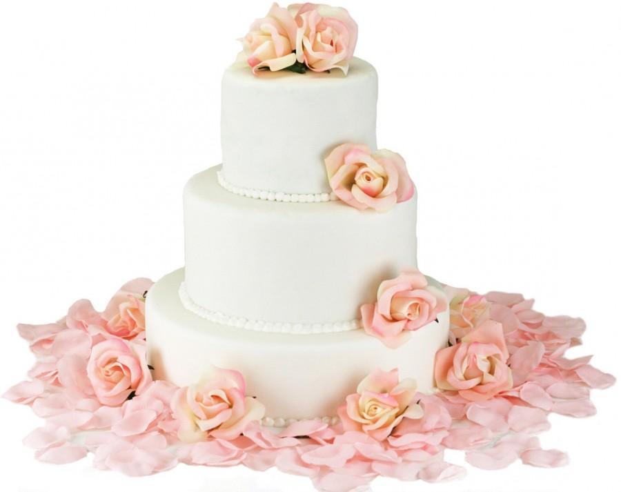 Pink Silk Rose Cake Flowers Wedding Reception Decoration 2418955