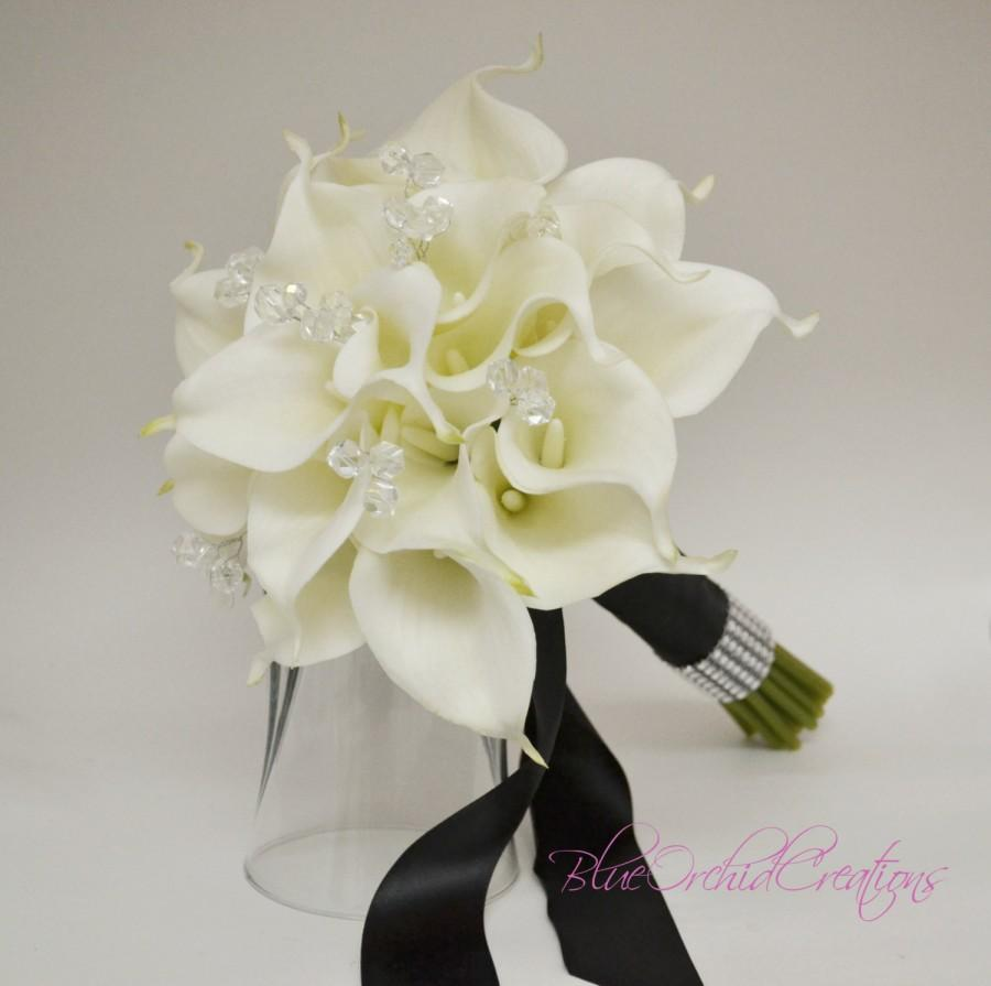 White Real Touch Calla Lily Bouquet Real Touch Bouquet Calla Lily