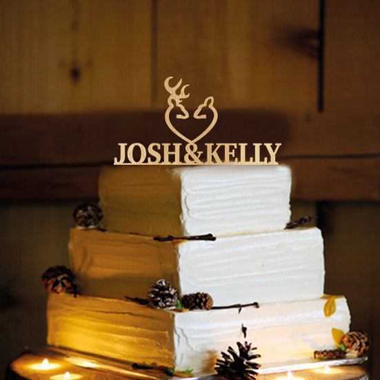 Свадьба - Deer Wedding Cake Topper - Country Wedding Cake Topper - rustic - shabby chic- redneck - cowboy - outdoor - western