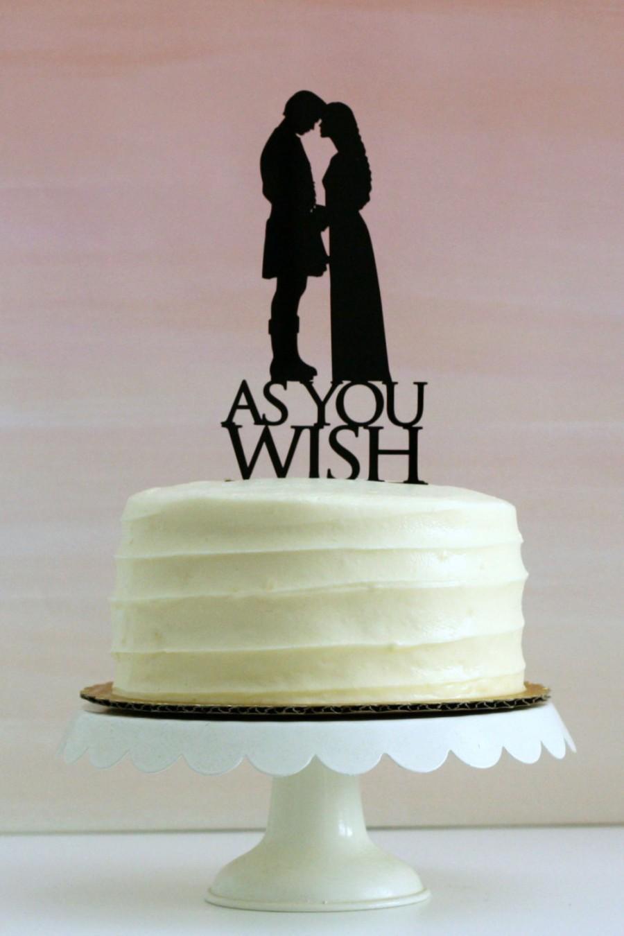 Princess Bride Wedding Cake Topper